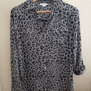 Jaclyn Smith long sleeve button down